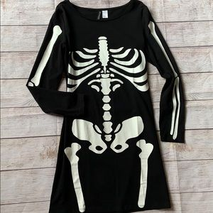 H&M Divided Form Fitting Skeleton Dress